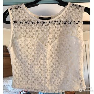 White Forever 21 tank crop top